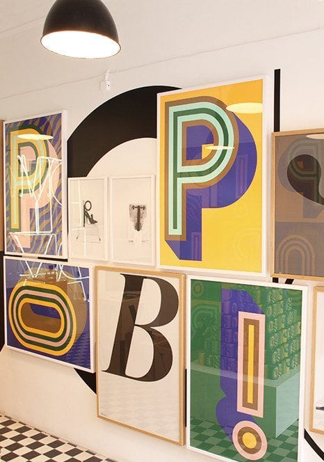 playtype pop poster o the poster club. Black Bedroom Furniture Sets. Home Design Ideas
