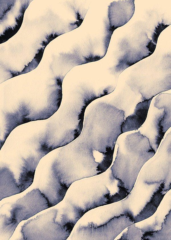 Kristina Krogh - Waves Blue/Yellow