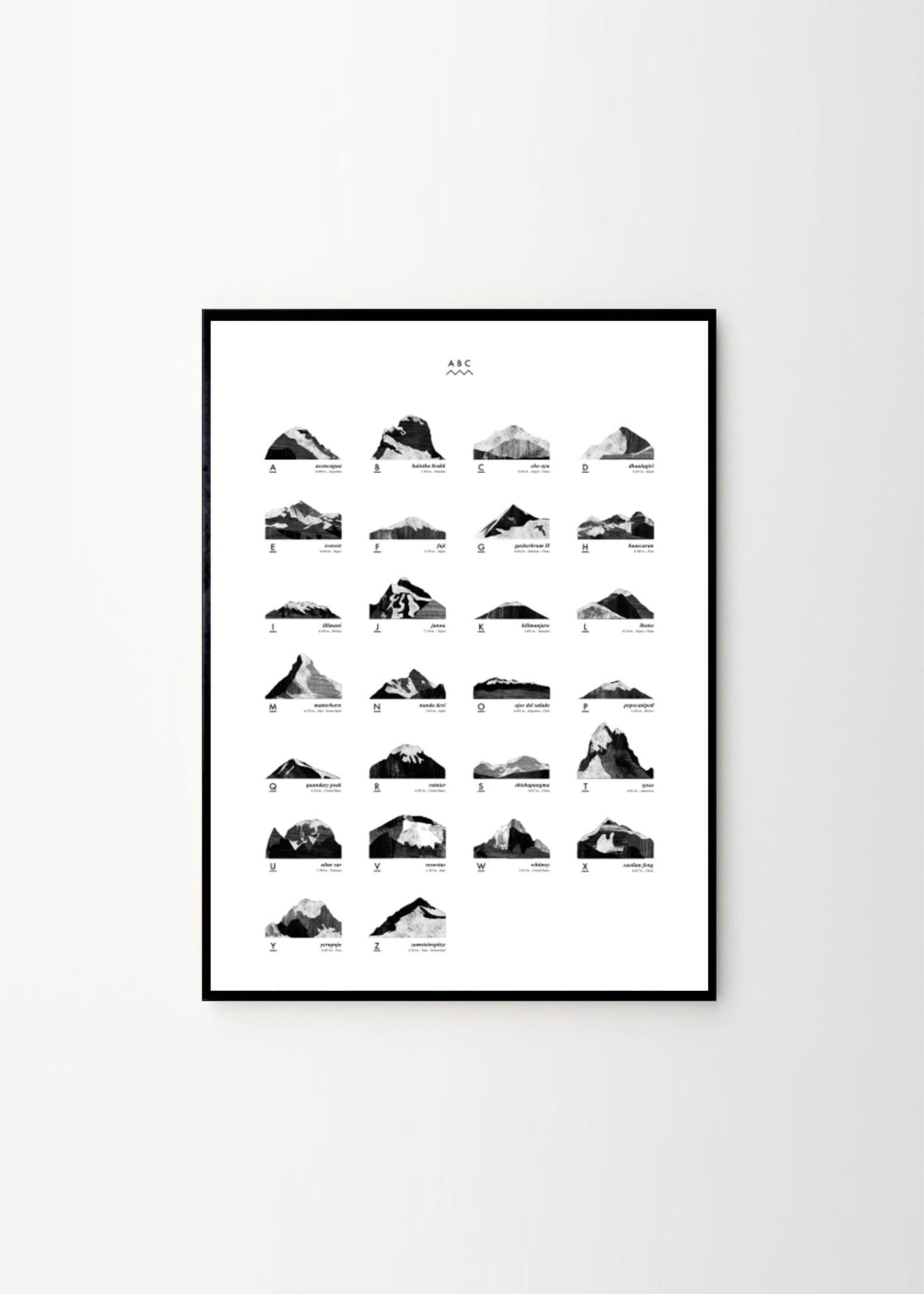Coco Lapine Mountain Abc The Poster Club