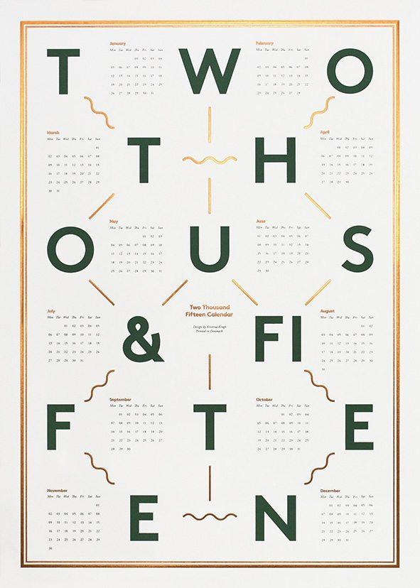 Kristina Krogh - 2015 calendar, White and Copper