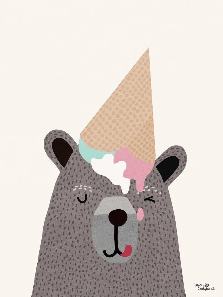 Michelle Carlslund, I love ice cream - THE POSTER CLUB
