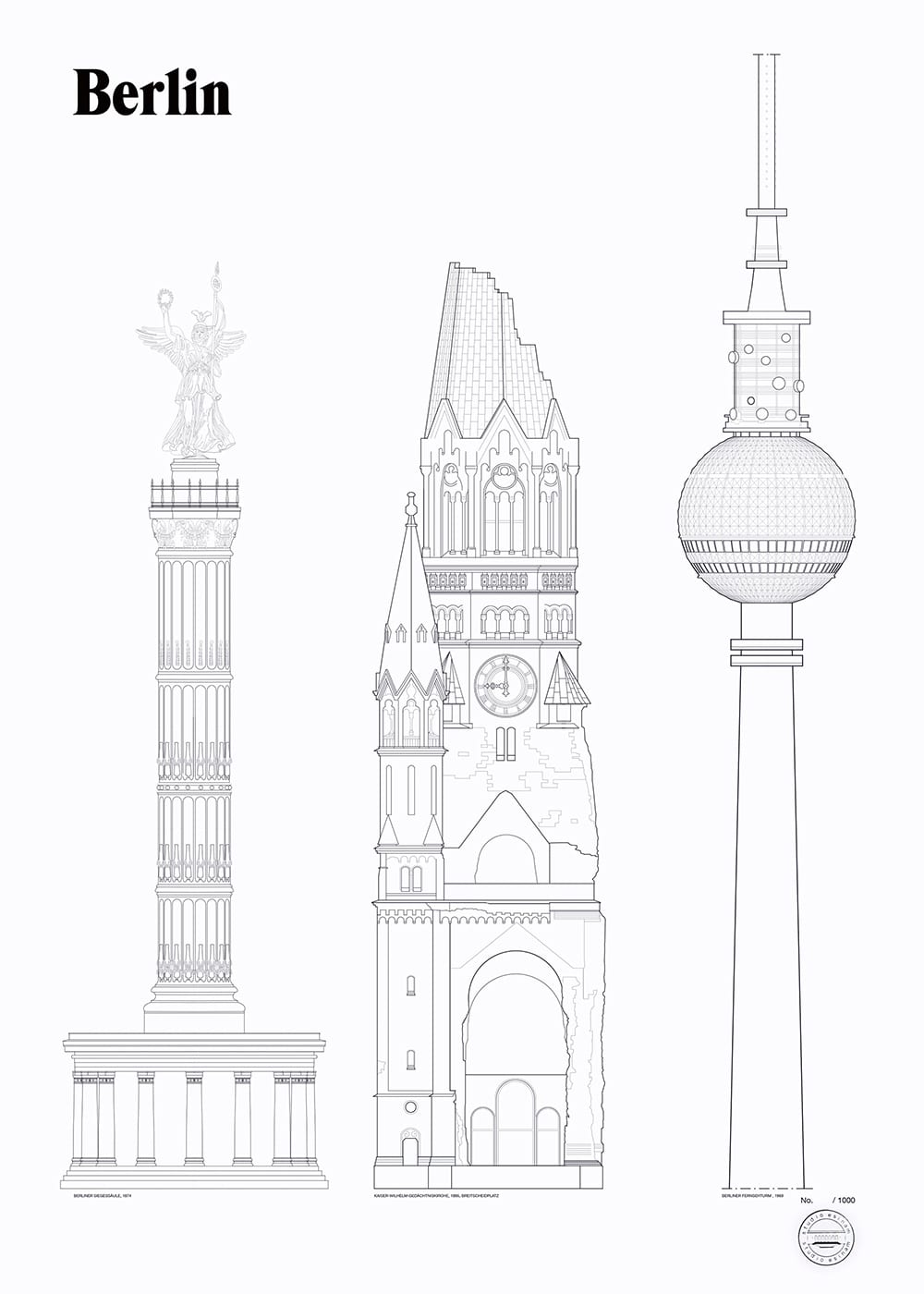 Line Art Studio Serpong : Studio esinam berlin landmarks the poster club
