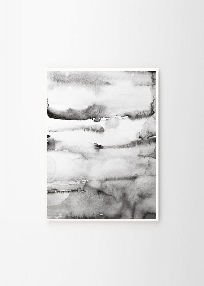 Nynne Rosenvinge - Art no 62 Grey Water color