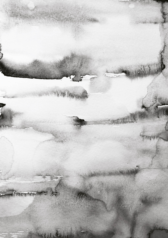 Nynne Rosenvinge - Art no 62, Grey Water Color