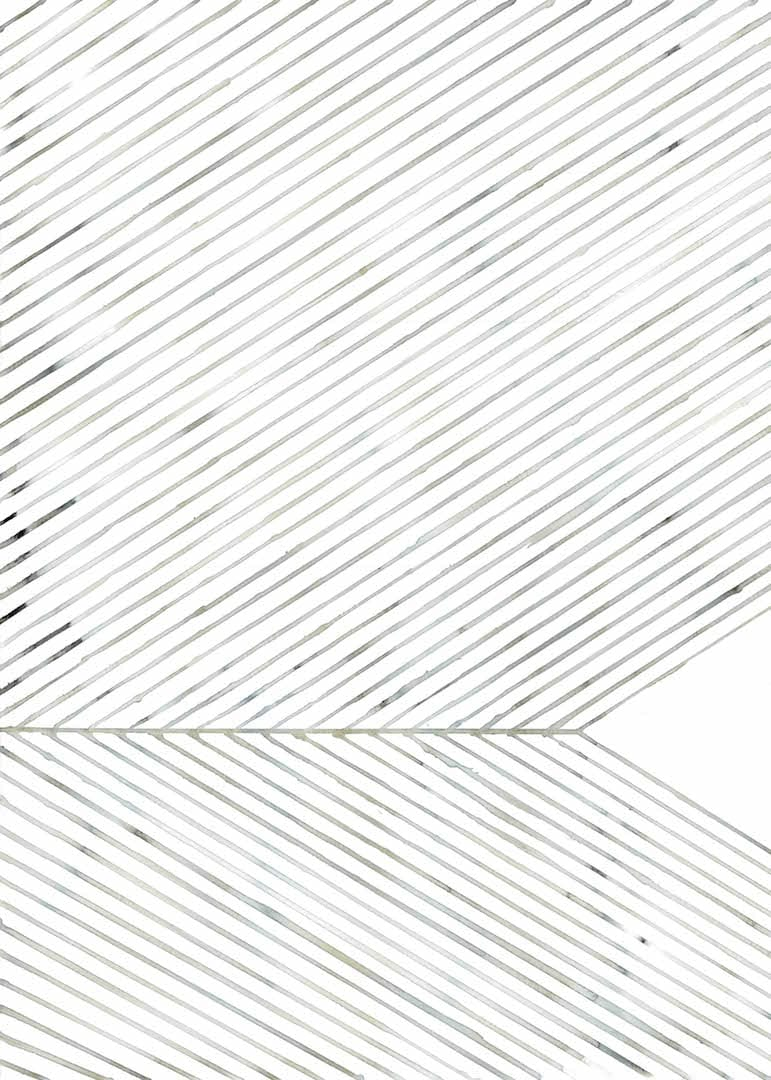 Silke Bonde - Leaf lines green