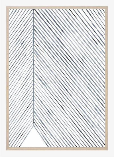 Silke Bonde - Leaf lines (Blue)