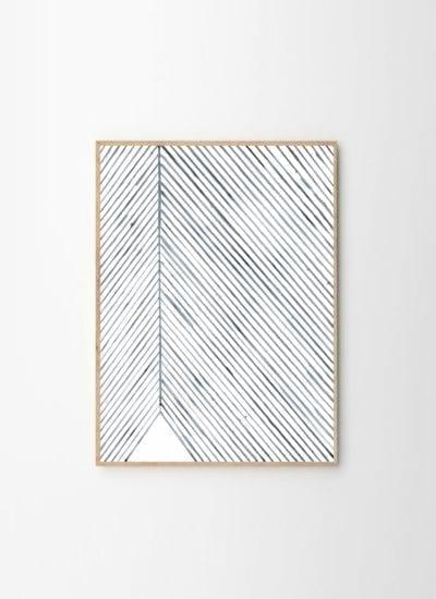 Silke Bonde - Leaf lines blue