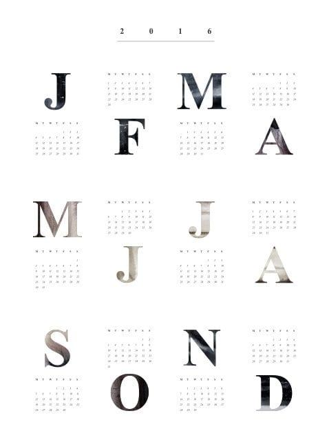 Coco Lapine - 2016 Calendar