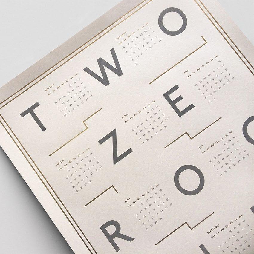 Kristina Krogh - 2016 calendar, Beige/Gold