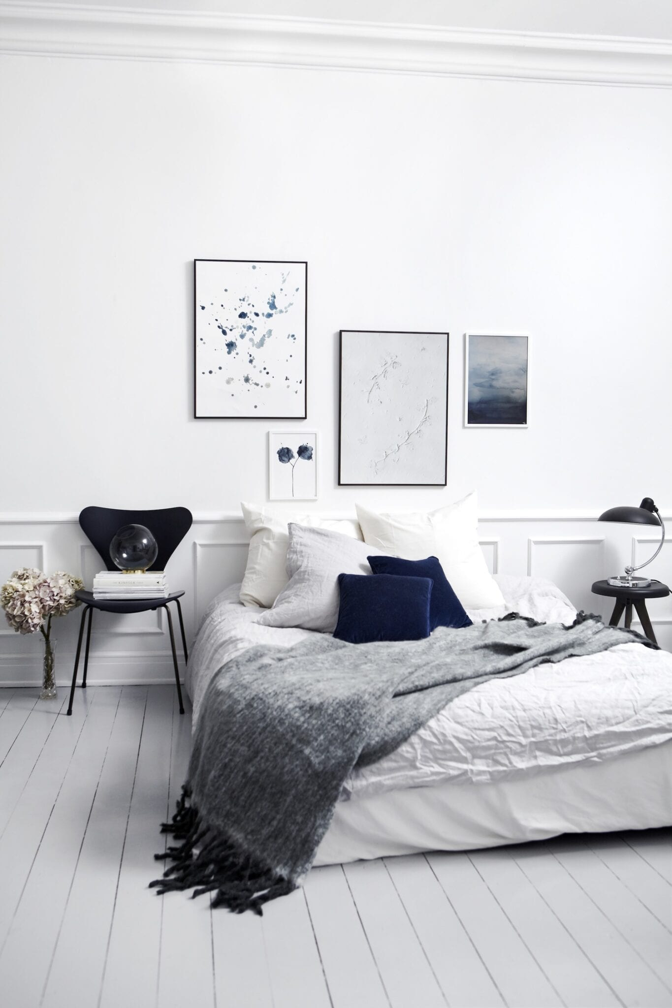 Trine Holb K Pure White The Poster Club: industrial scandinavian bedroom
