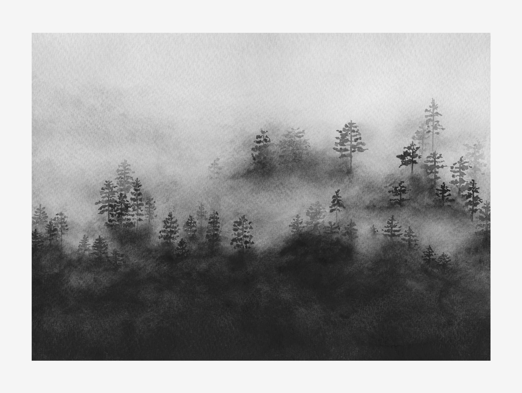 Melissa Selmin, Rising mist art print - THE POSTER CLUB