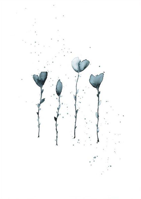 Trine Holbæk - Four Little Flowers