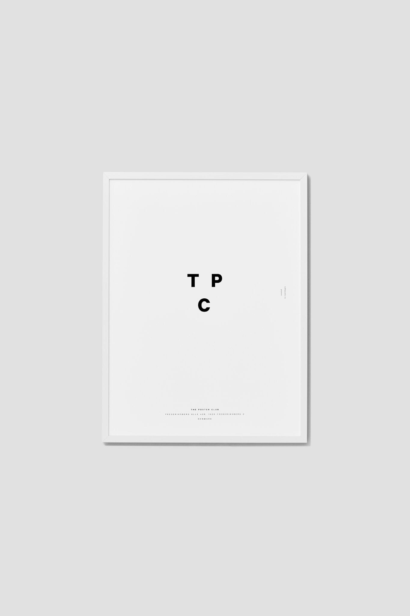 Thin solid Oak Frame in white with real glass - THE POSTER CLUB