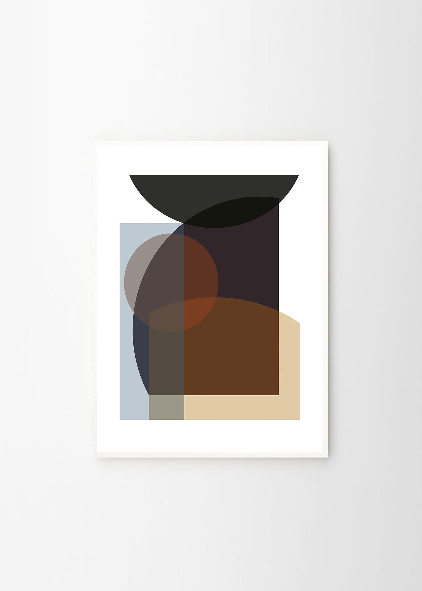 Berit Mogensen Lopez, Brown Cirkel - THE POSTER CLUB