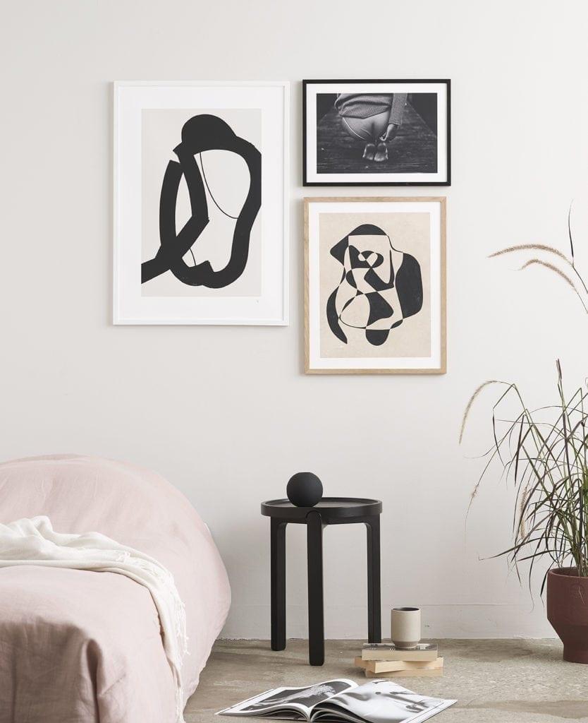 Artsy bedroom | Via theposterclub.com