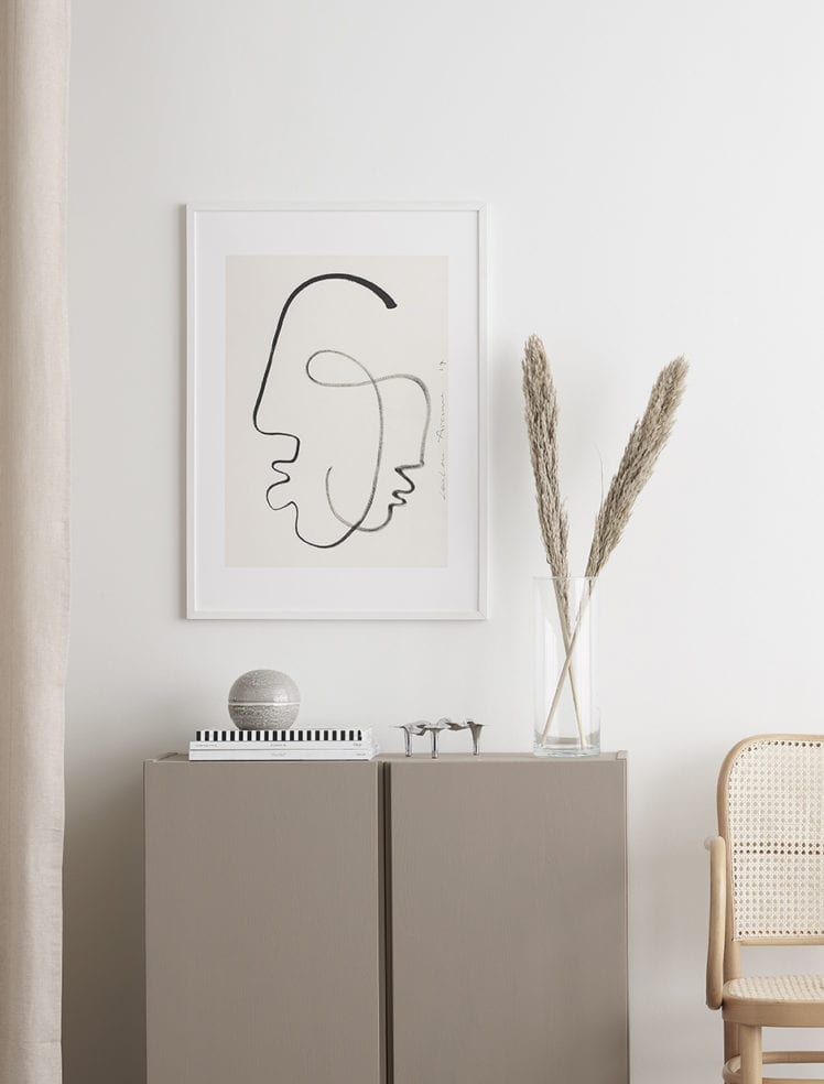 LINE DRAWING ART PRINTS // THE POSTER CLUB