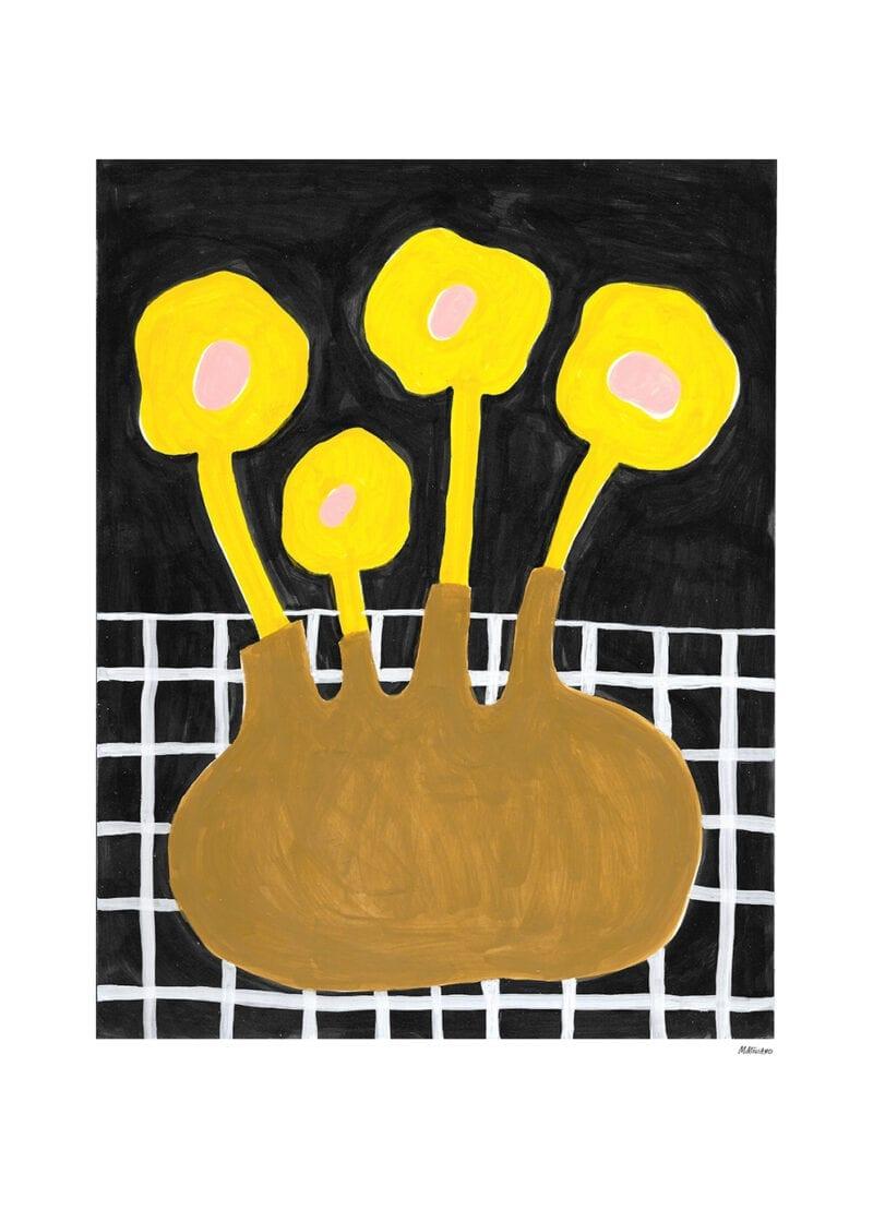 Madelen Möllard - Flowers In Brown Vase