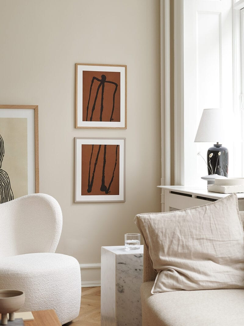 Malene Birger - Abstract Man No 02 & No 01